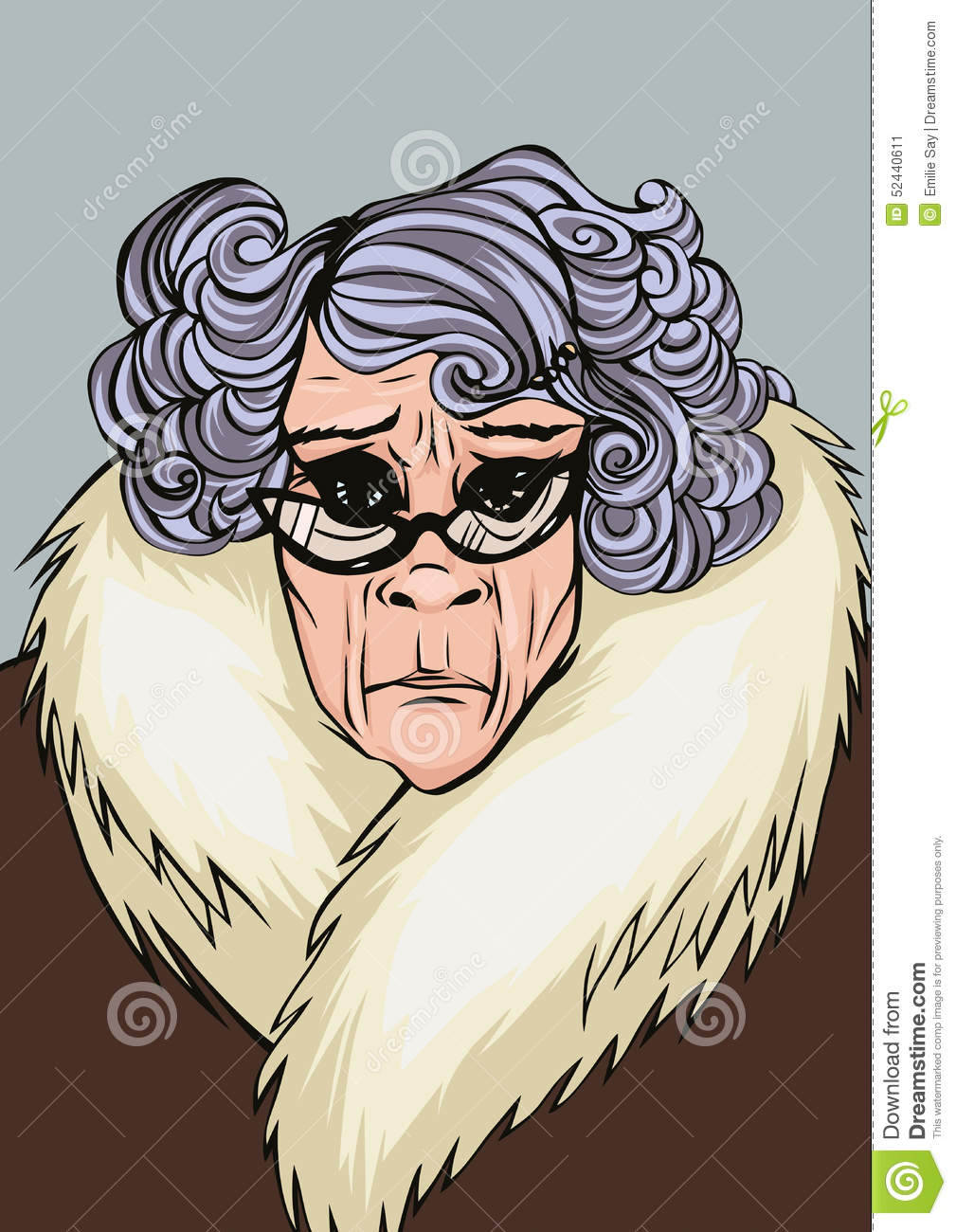 Disapproving OAP Stock Illustration.