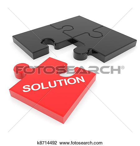 Clip Art of Disassembled solution puzzle. k8714492.