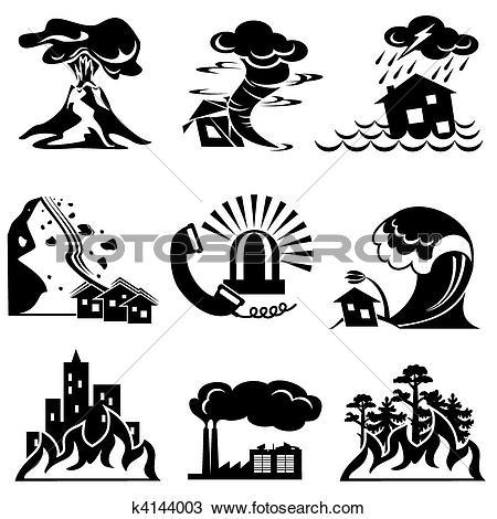 Natural disaster Clip Art Vector Graphics. 2,581 natural disaster.