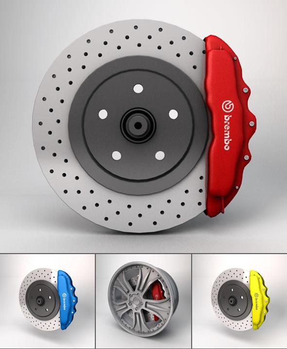 Brembo Disc Brake 3D Model.