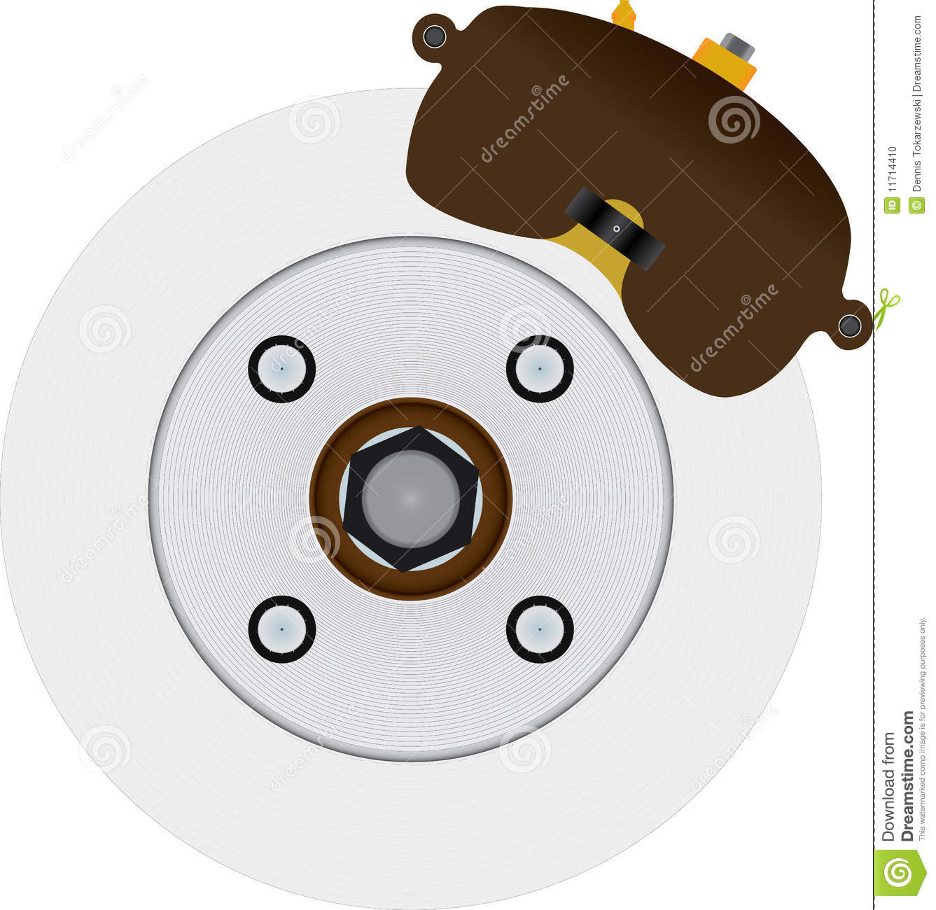 Disc Brake Rotor Stock Illustrations.