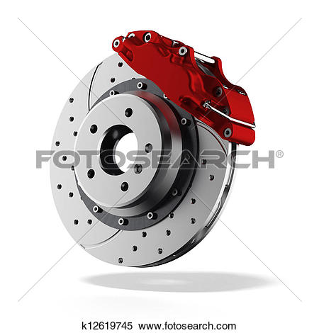 Stock Illustration of Brake disc k12619745.