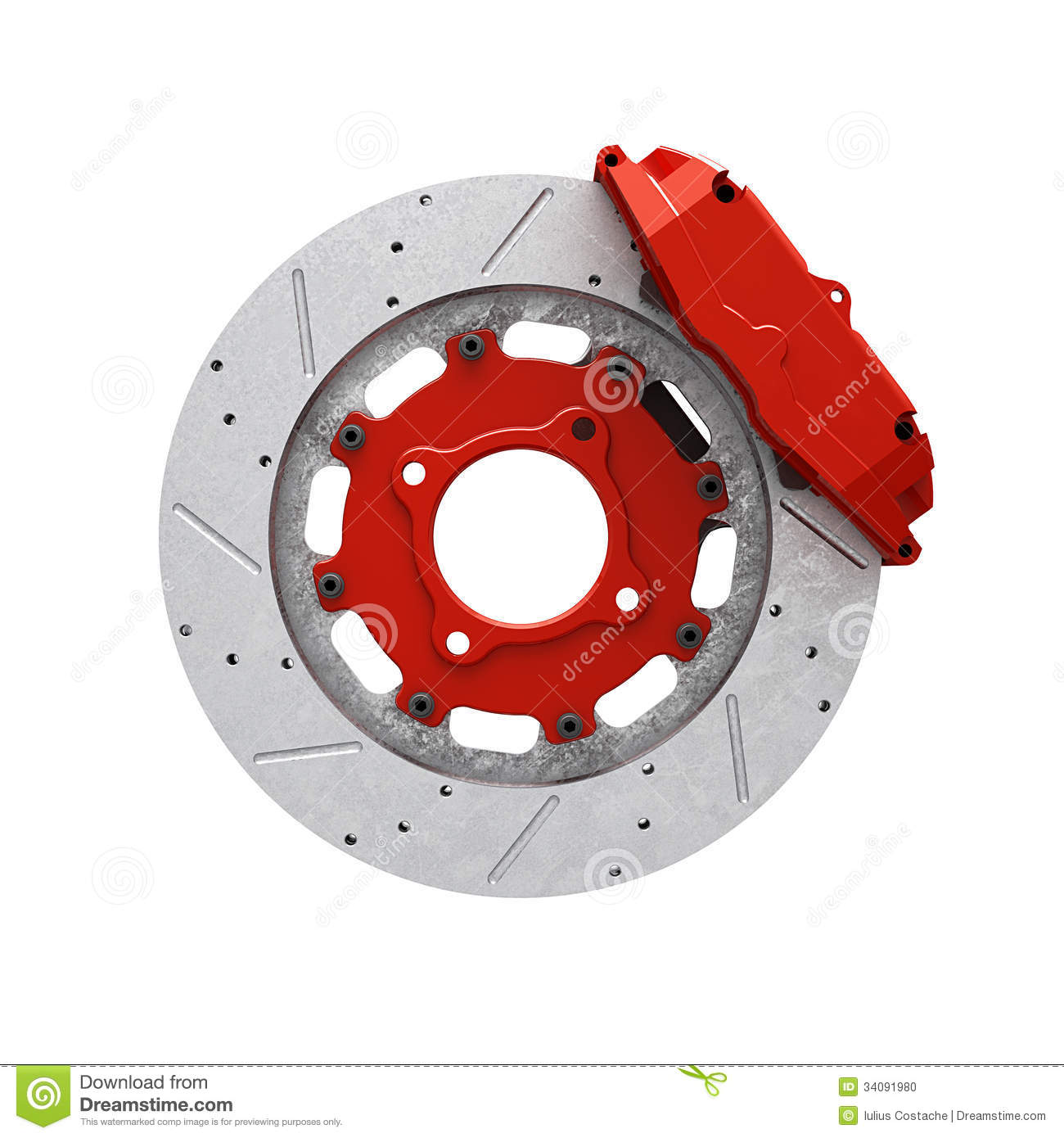 Brake Disc Stock Vector.