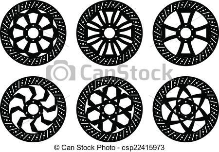Vectors Illustration of Disk brakes.