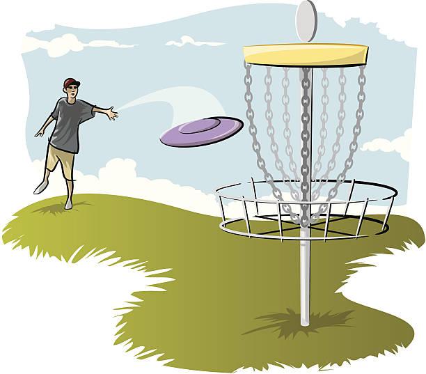 Disc Golf Illustrations, Royalty.