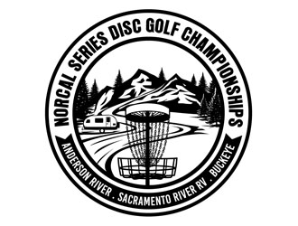 Norcal Series Disc Golf logo design.