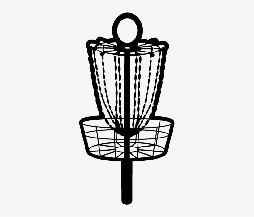 Disc Golf Basket Sticker.