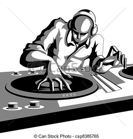 Disc jockey clipart #8