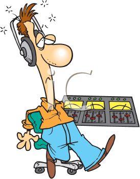 Cartoon of an Exhausted Radio DJ.