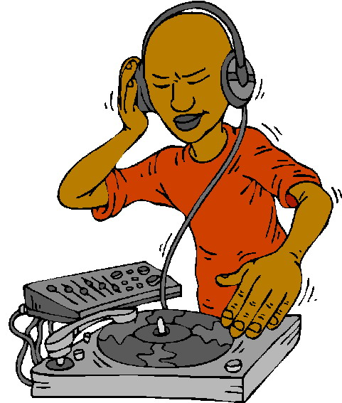 Disc jockey clipart free.