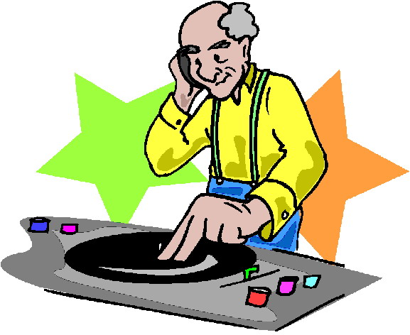 Disc Jockey Clipart.