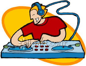 Disc jockey clipart #4