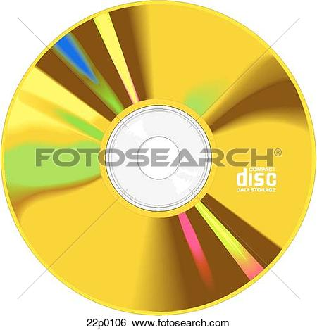 Clip Art of compact disk 22p0106.