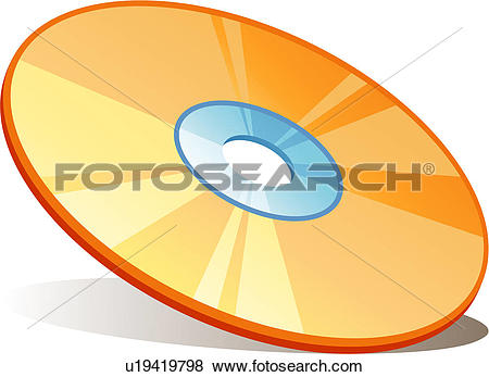 Clip Art of CD, cd, disc, compact disc, disk, stationery, icon.