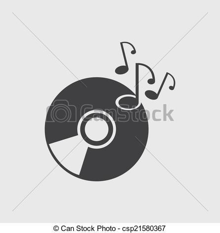 Clip Art Vector of Music Disc icon csp21580367.
