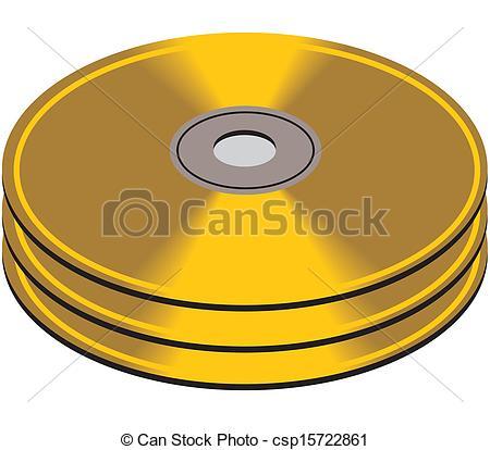 Clip Art Vector of CD or DVD discs csp15722861.