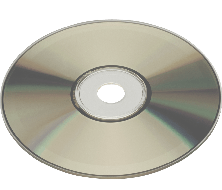 Compact Disc no background PNG Image.