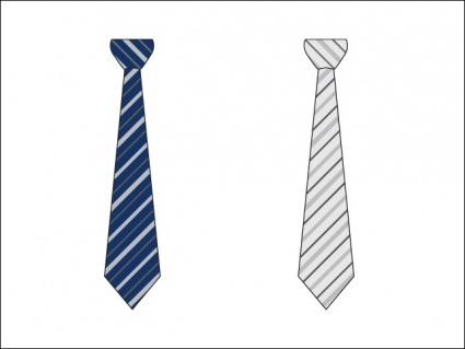 Two Striped Business Ties Easily Change Stripe Color Or Discard.