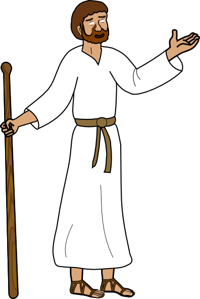Disciples See Jesus Clipart.