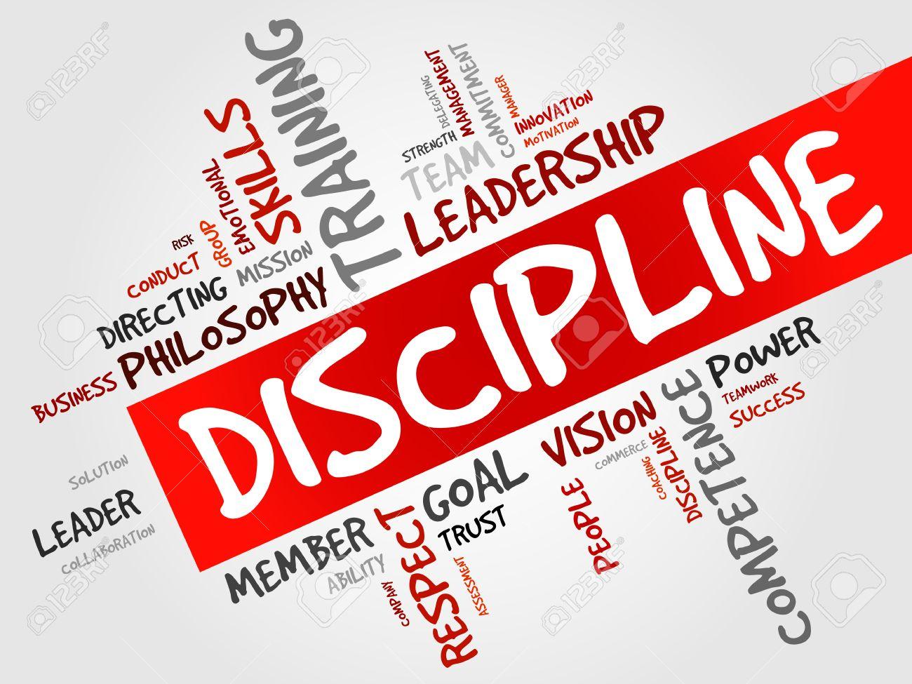 DISCIPLINE word cloud, business concept.