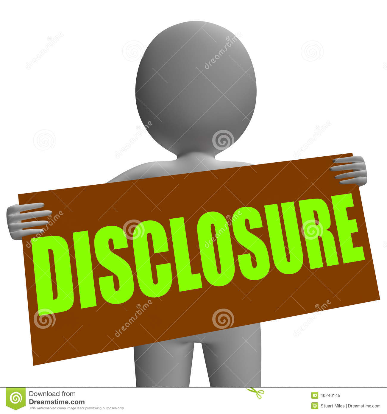 Disclosure Stock Illustrations.