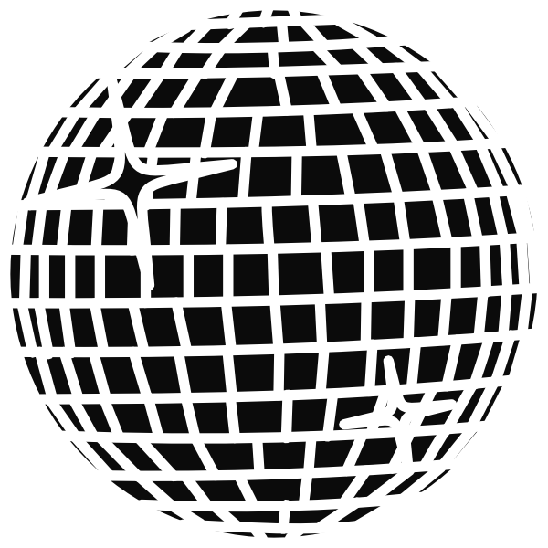 Snow Disco Ball Schwarz Clip Art at Clker.com.