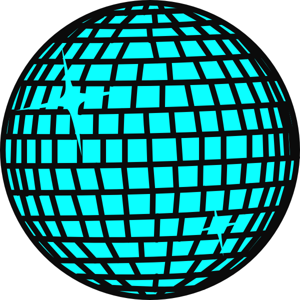 Free disco ball clipart with transparent background.