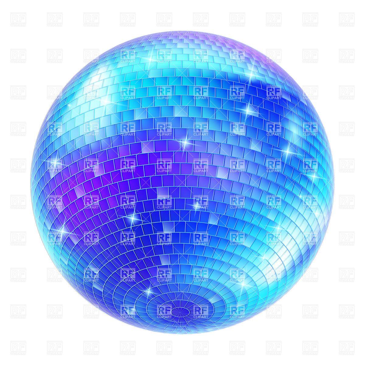 Blue Disco Ball vector image.