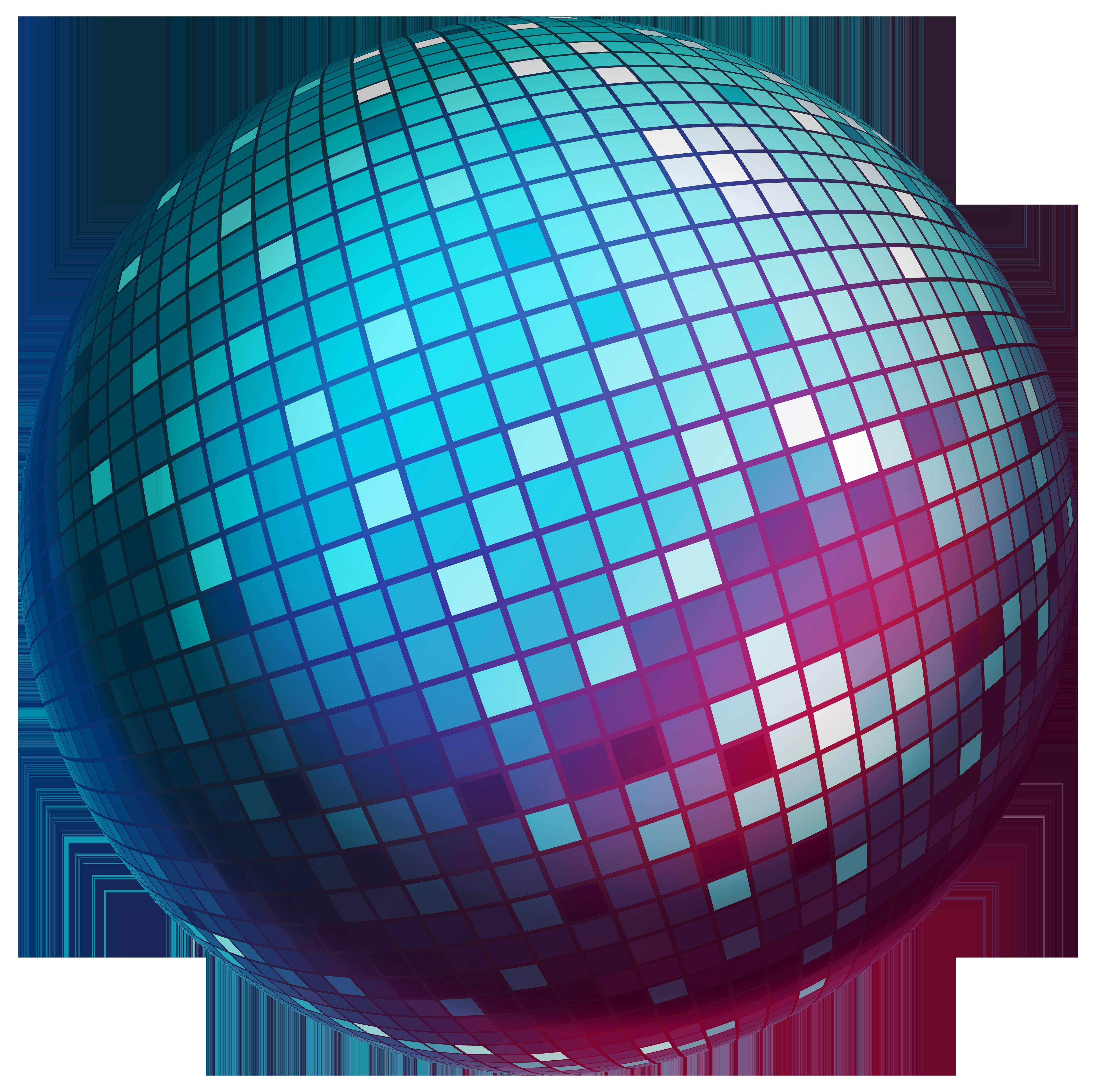 Disco Ball Transparent PNG Clip Art Image.