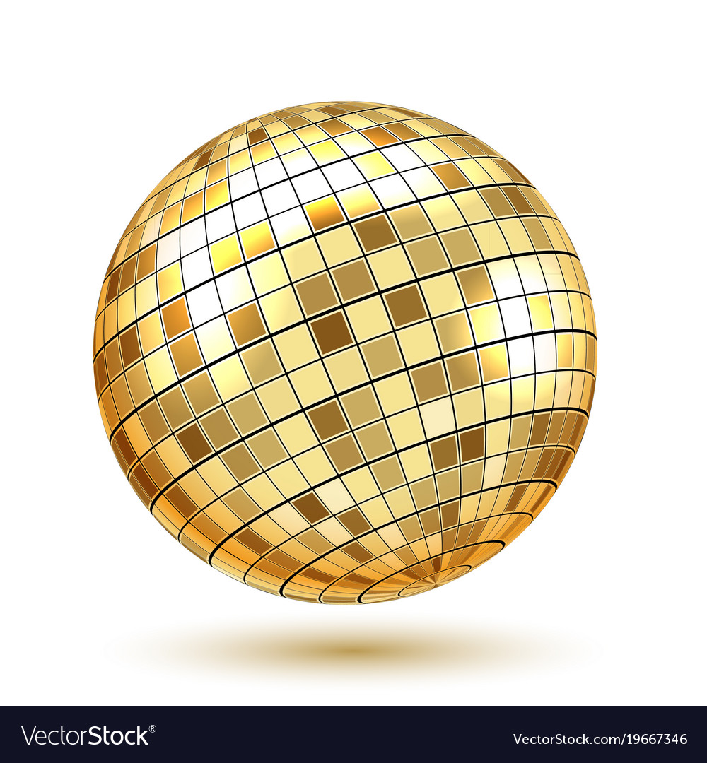 Golden disco ball.