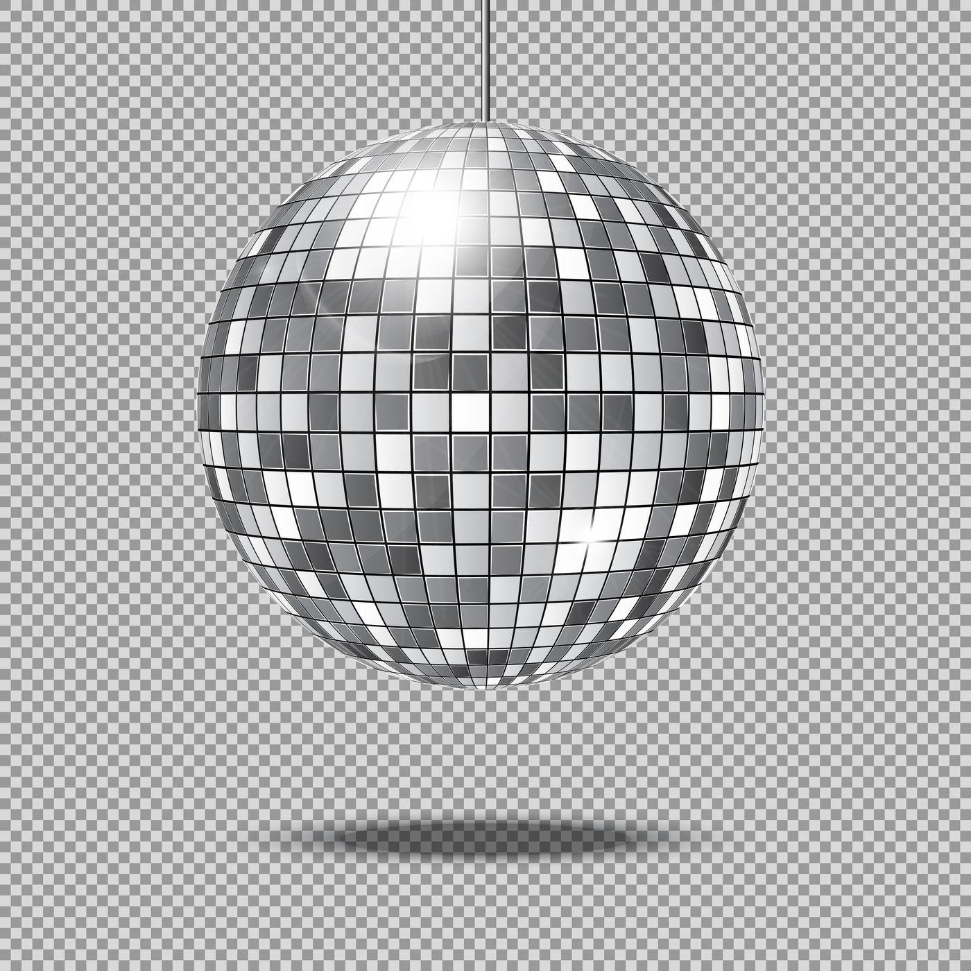 Mirror glitter disco ball vector illustration By Microvector.