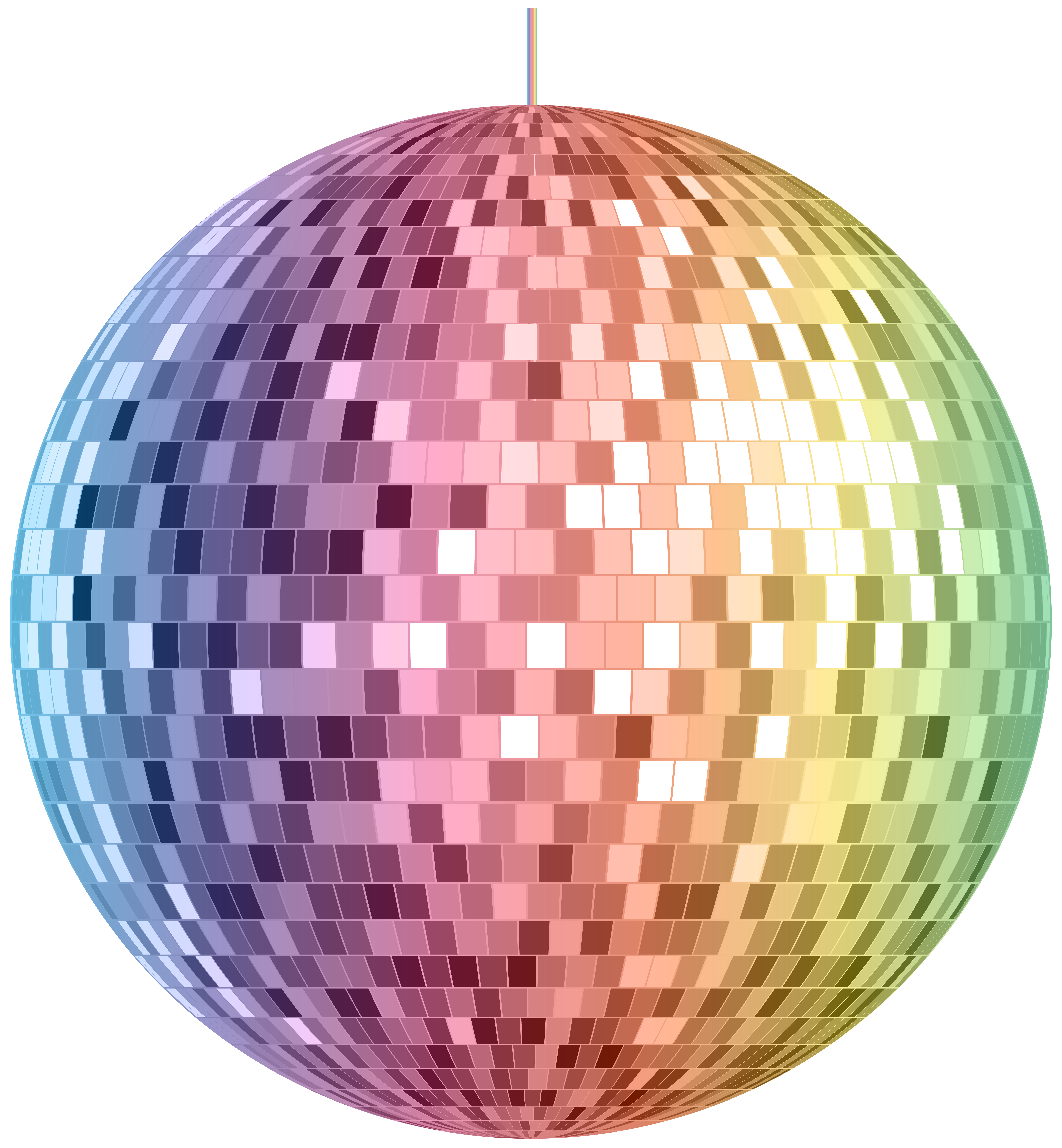 Disco Ball PNG Clipart Image.