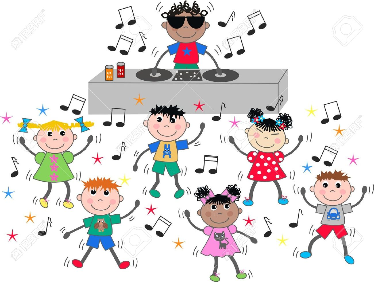 School disco clipart.