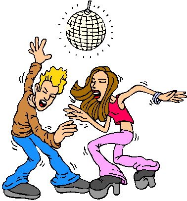 Disco Dancing Clipart.