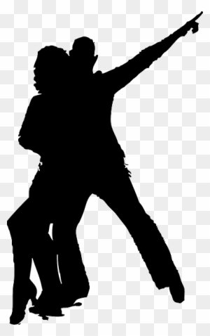 Download Free png Disco Dancer Silhouette Silhouette Dance Couple.