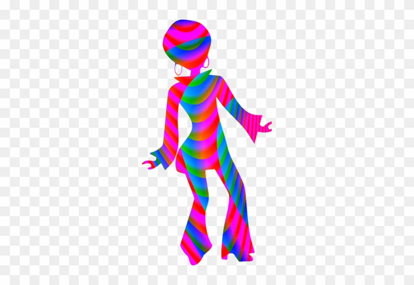 Disco Girl Silhouette.