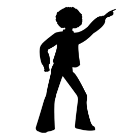 Disco Dancer Silhouette Images.