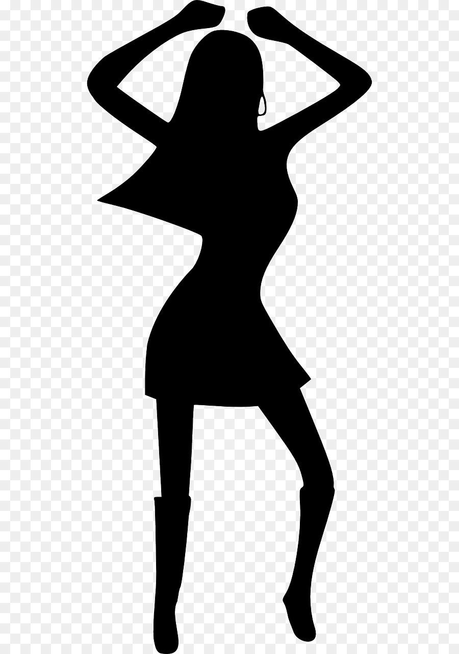 Disco Dance Silhouette Clip art.