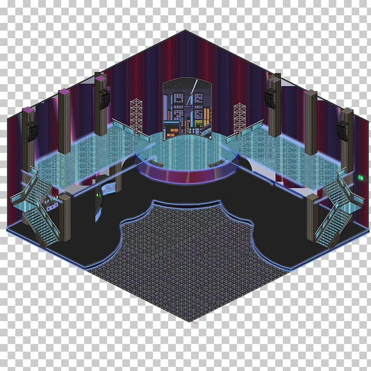 Habbo Nightclub Discoteca Room Game, disco floor PNG clipart.