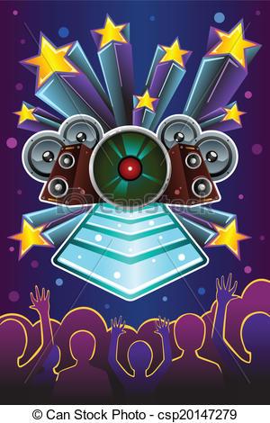 Vectors Illustration of Disco night flyer.