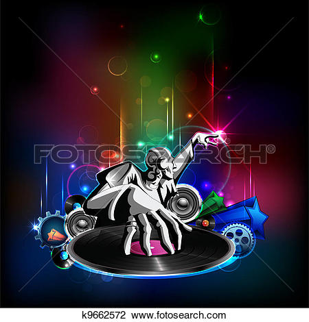 Clipart of Disco Night k9662572.