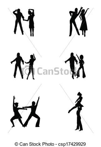 Vector Illustration of disco dancing.