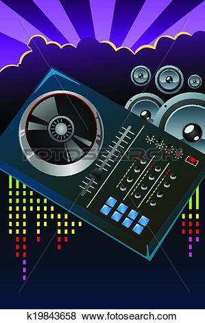 Clip Art of Disco night flyer k19843658.