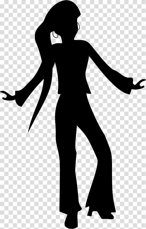 Dance Disco Silhouette , disco transparent background PNG.