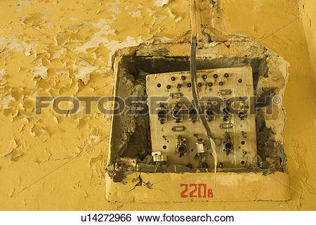 Stock Images of Circuit, Electric, Discolored, Conduits, 220.