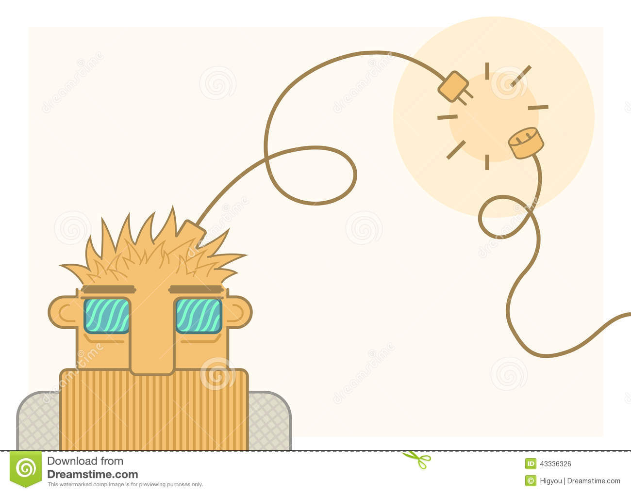 Disconnect Guy Stock Vector.