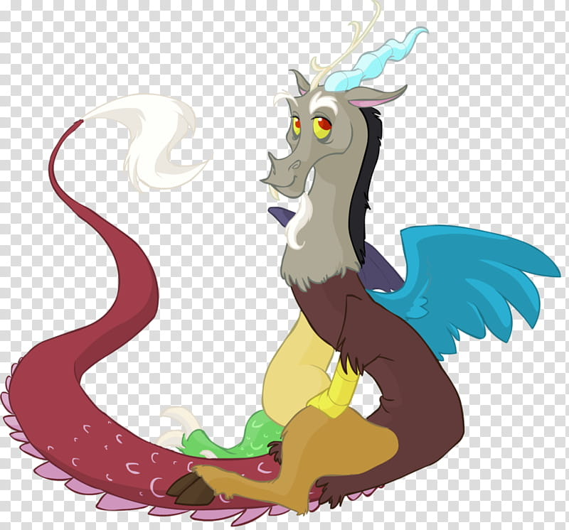 MLP, Discord, multicolored dragon transparent background PNG.