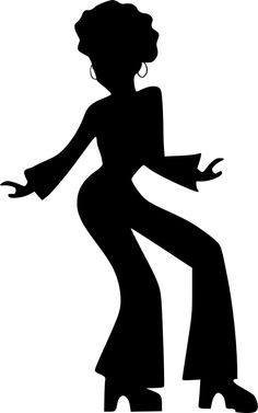 This is a Disco dancer silhouette clip art for designs. Vector.