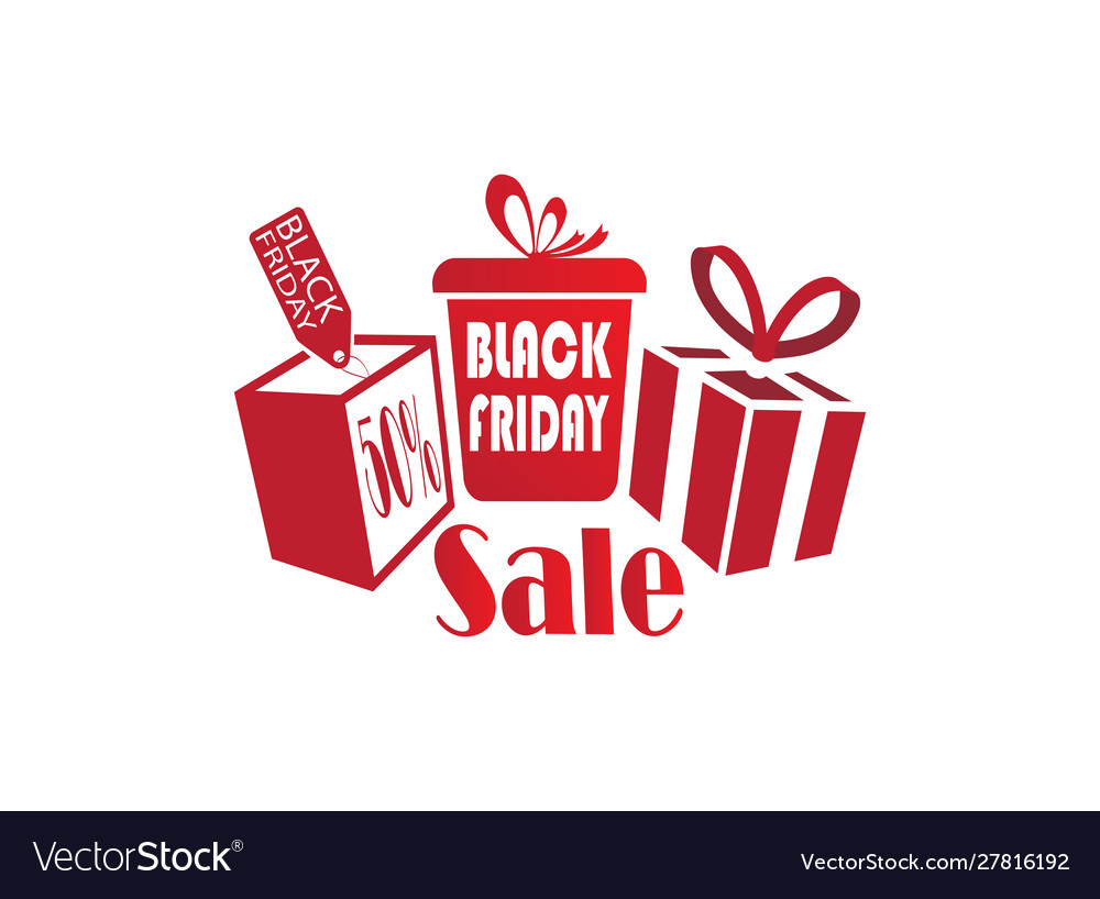 Black friday gifts discount sale clipart.