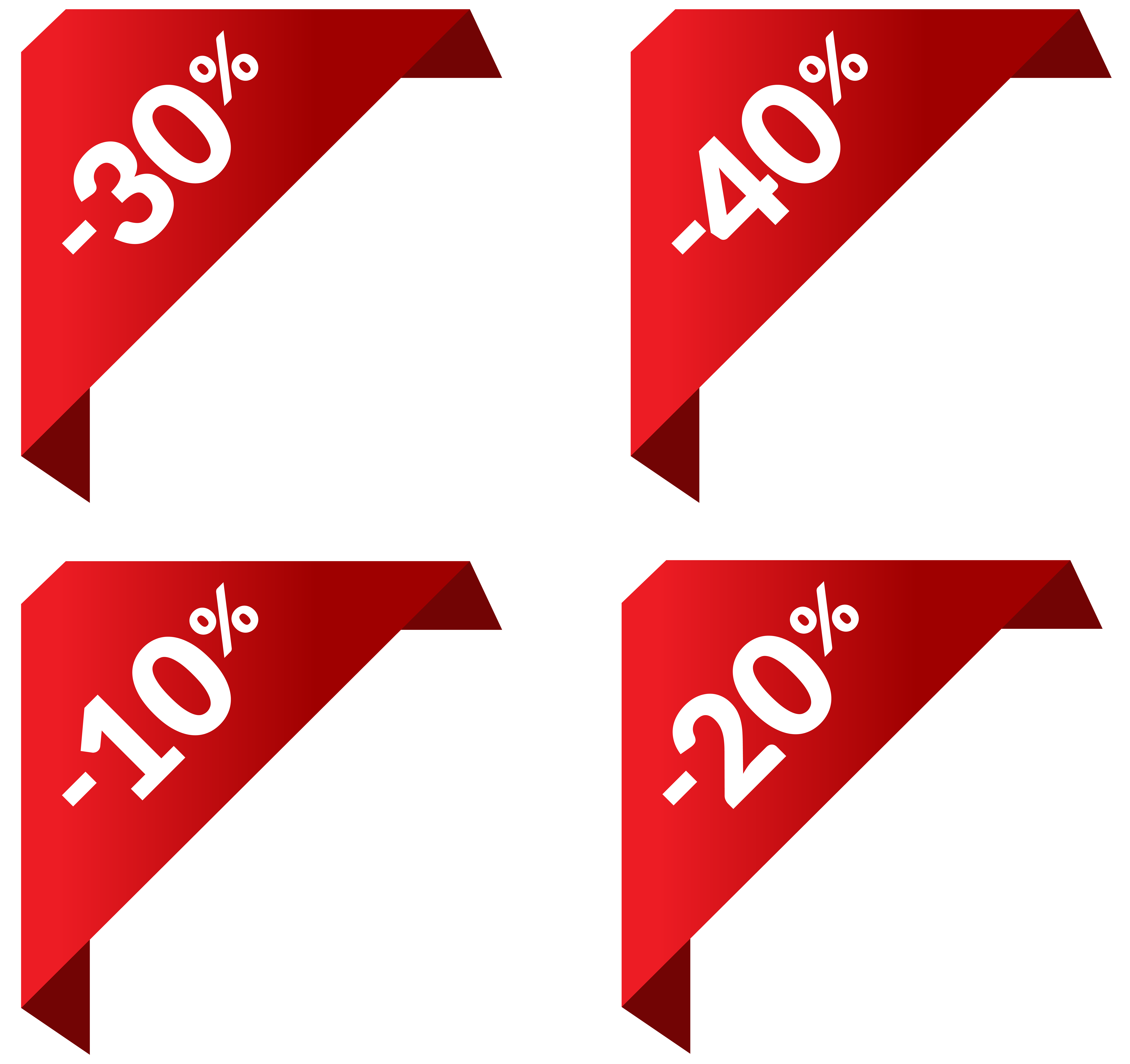 Discount Corners PNG Clip Art Image.